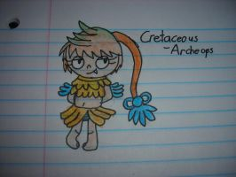 Cretaceous the Archeops Gijinka by Waddle-Dance