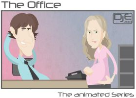 The Office - Jim and Pam by johnnymartini