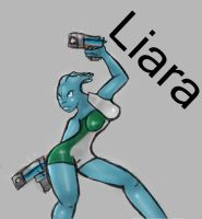 Gals with Guns- Liara by WindDrifter