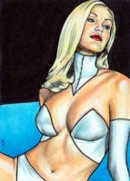 Emma Frost Sketch Card 4 by veripwolf