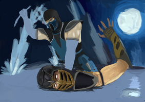 Sub Zero v Scorpion by VikDesigns
