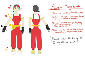 (new) Piper Reference by vera-san