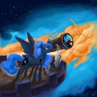 Princess Luna Scientist :D by DymasyaSilver