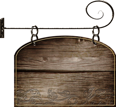 hanging sign PNG stock by DoloresMinette
