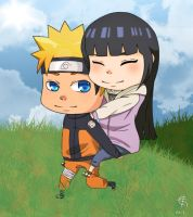 NaruHina Piggy Back by XxLazyHeartxX