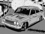 Drifting Datsun 510 Initial D Style by MikeWong2795