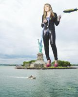 Jennette McCurdy Stands With Lady Liberty by B3Three