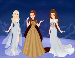 GoTWedding Dresses: Daenerys, Sansa, and Margaery by nickelbackloverxoxox