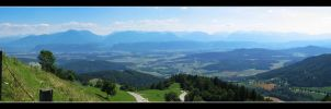 view from the Magdalensberg by RRVISTAS