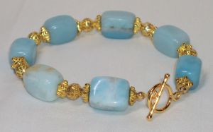 Aquamarine Bracelet by ACrowsCollection