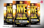 NYE 2016 Party Flyer PSD Template by ryrdesign