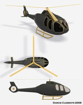 Low Poly Private Helicopter by DrakonLady