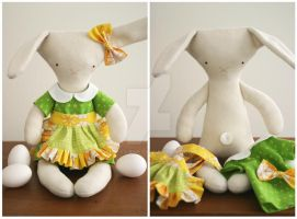 Esther the rag-rabbit by kittyvane