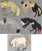 Fox/Wolf + Horse Adopt (Open) by SixxAdopts