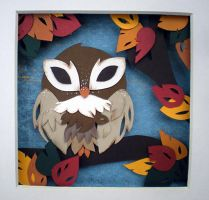 Autumn Owl by tracyblank