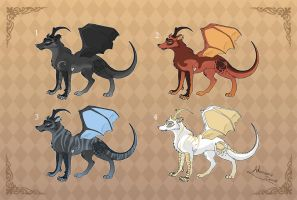 [Closed] Adoptables: Drawolves1 by MySweetQueen