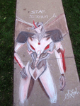Starscream, Lord of the Sidewalk by Conekonyan