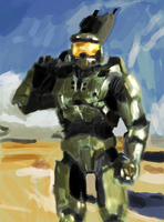 Master chief speed painting by DemetrPaints