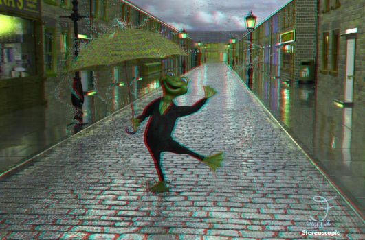 Singing in the Rain: Stereoscopic by JeddieFacenna