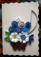 Quilled floral arrangement II by YoyoTheMadScientist