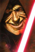 Star Wars portraits: Palpatine by vividfury