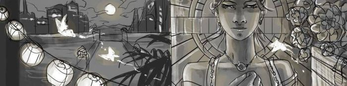 WIP The Uncrucified Banner Art by AngelaSasser