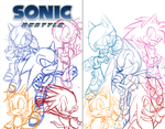 Sonic Restyle Cover WIP by Needle-Mouse