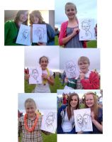Live Caricatures Charity Event by DoodleArtStudios