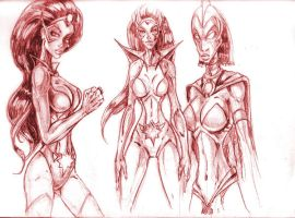 Star Sapphire sketches by Superpael
