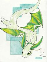 Dragonite-Chikorita Hybrid by ashkey