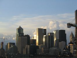 Downtown Seattle - 2 by WongKaiKo