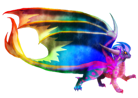 -REQUEST- Rainbow Dragon by SuperSonicFireDragon