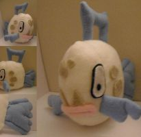 Feebas Plushie ART TRADE by VenomousDesires