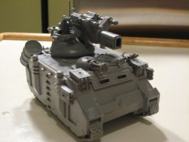 Space Marine Plasma Beam tank by N7Elite