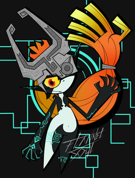 Midna the imp by FlannelSoul