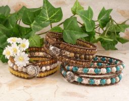 Woven Bead Bracelets by wheeter