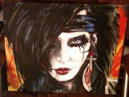 Andy Biersack Painting by studiomonroe