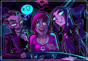 AT THE CLUB FULL COLORED COMMISSION by Candys-Killer