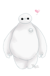 Baymax Loves You by BleachedKitten