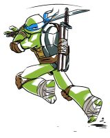Leonardo is ichiban turtle by yamiza