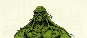 05 02 2012 Daily Draw Swamp Thing by LineDetail