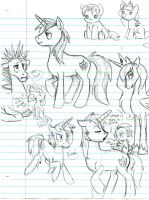 shining armor doodles by jauneby
