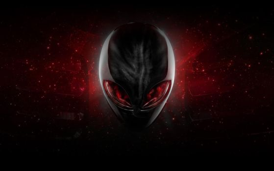 Alienware Red Wallpaper by ExileStyle90