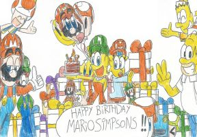 Happy Birthday MarioSimpson1!! by FelixToonimeFanX360