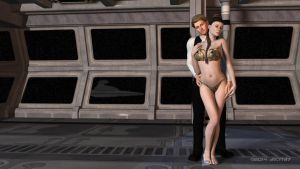 Leia and Han 004 by ArtFunart4fun