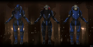 Garrus Model for XNALara by Melllin