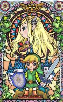 Zelda Stained Glass Window by aiduqui