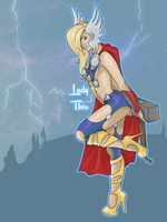 Lady Thor by mcrmorbid