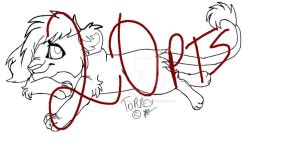 Lioness Lineart P2U by Yesterday-Torrey