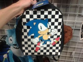 Classic Sonic backpack by sonicfan40